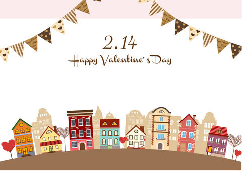 Valentine Illustration 20 Townscape