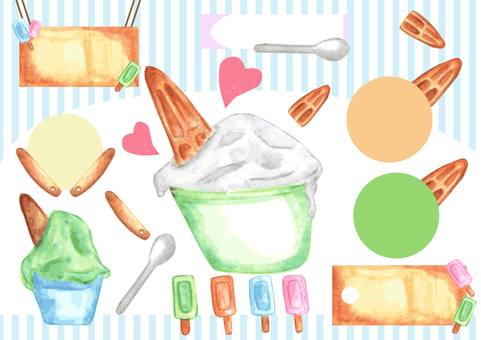 Set of gelato