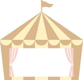 Circus tent frame tea