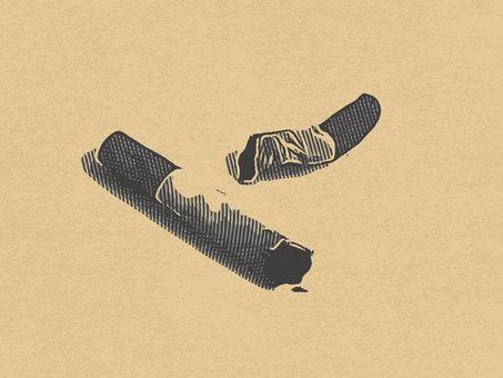 Cigarette antique printing material