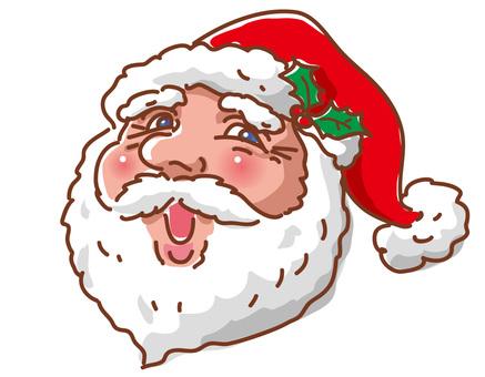 American Santa Claus face