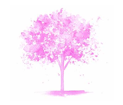 One tree of art - Magenta