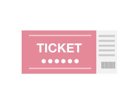 Tickets (pink / 1 sheet)