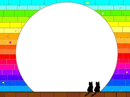 Cat and brick series