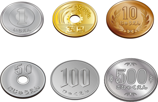 6 kinds of coins Naname
