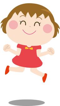 점프하는 여자 3