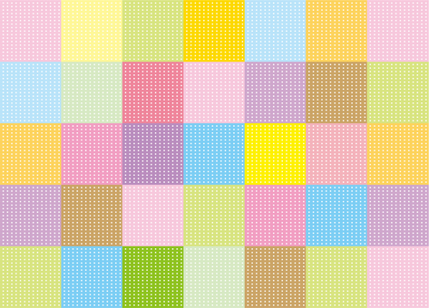 Wallpaper - Patchwork - Colorful