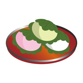 Kashihashimotsu put on the tray