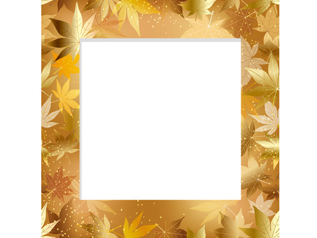 Seamless autumn frame golden color