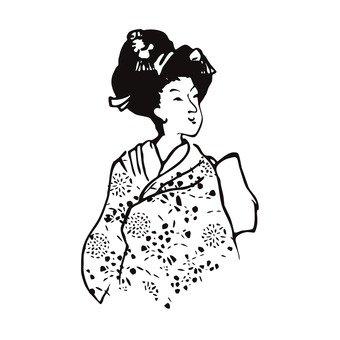 Ukiyo-eki geisha (1)