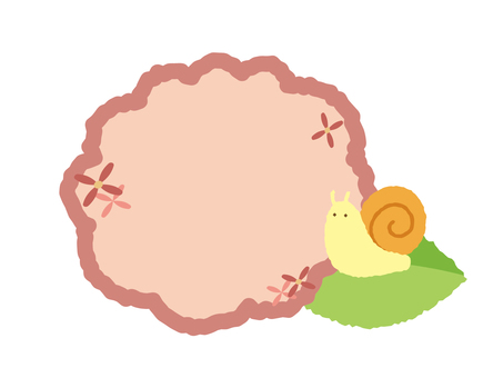 Hydrangea and snail frame pink