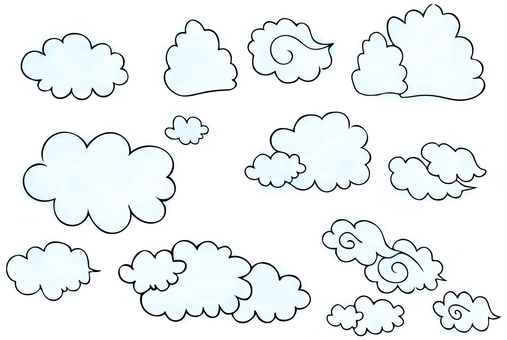 Various forms of clouds