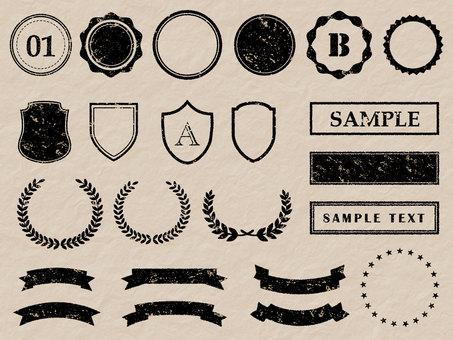 Hanko faint frame material set