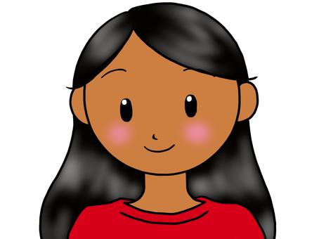 Black hair woman 4