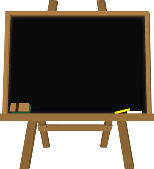 Frame blackboard (black with stand)