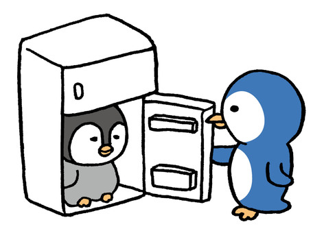 Cool in the penguin refrigerator