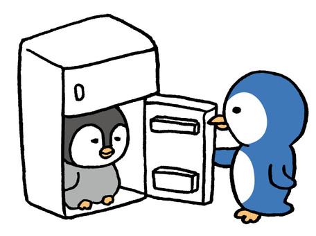 在企鵝冰箱冷靜