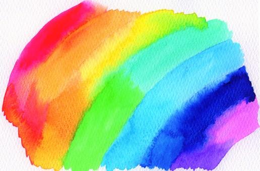 Handwritten rainbow