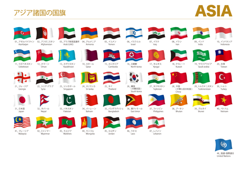 World flag Asia (wind solid) 001_02