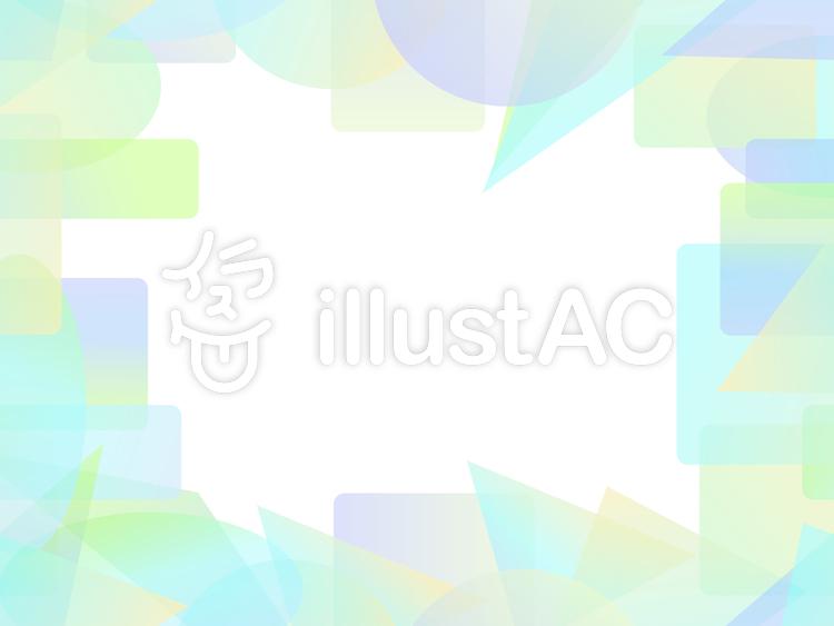 パステル調のカラフルな短形フレーム3c