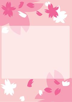 Cherry Blossom Frame 4 A4