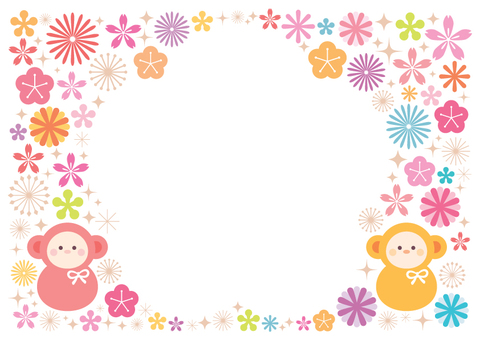A monkey's colorful frame