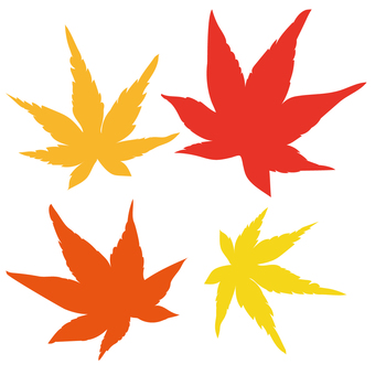 Leaves of autumn leaves