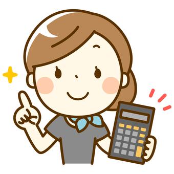 Esthetician woman_Calculator
