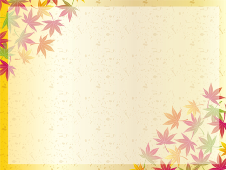 Autumn Japanese pattern frame 06