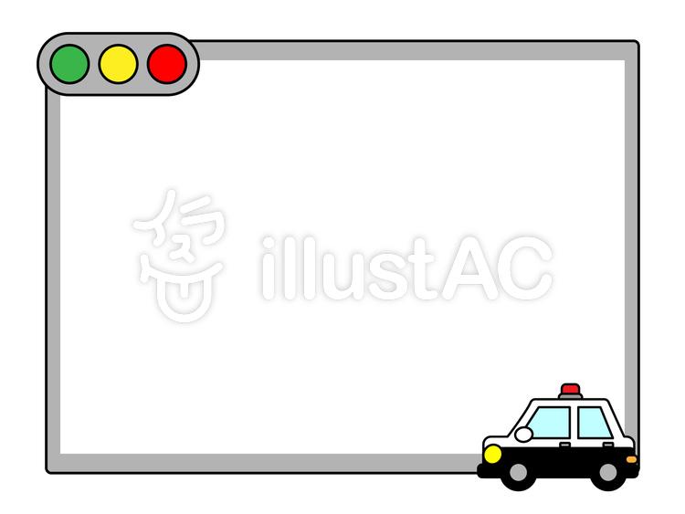 パトカー フレームのイラスト