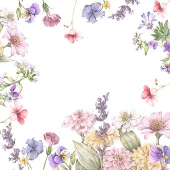 日本風格的花框架