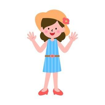 Summer attire woman