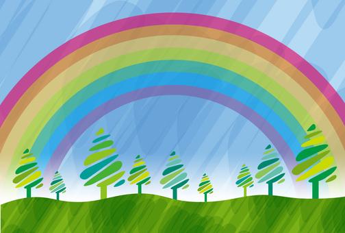 Rainbow and grove