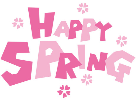 Bright and fun spring Happy Spring logo