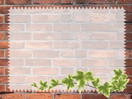 덩굴 잎과 벽돌