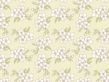 Spring cherry Tile pattern (repeat) B03