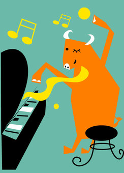 Cattle and Piano