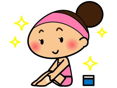 做皮膚護理的女性