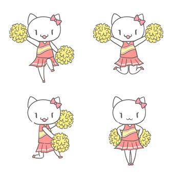 Cheerleader's cat