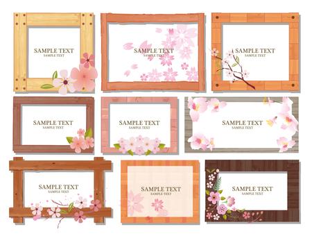 Cherry blossom material