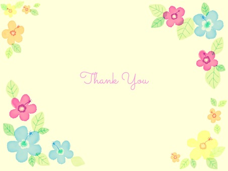 thank you card hibiscus