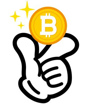 Extraordinary hand sign · money · bit coin