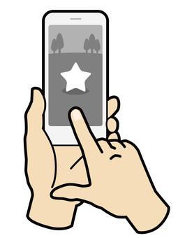 雙手操作智能手機遊戲應用程序01
