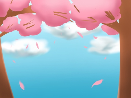 Cherry Trees and Sky