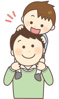 Parent and child shoulder car