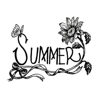 Summer lettering / sunflower