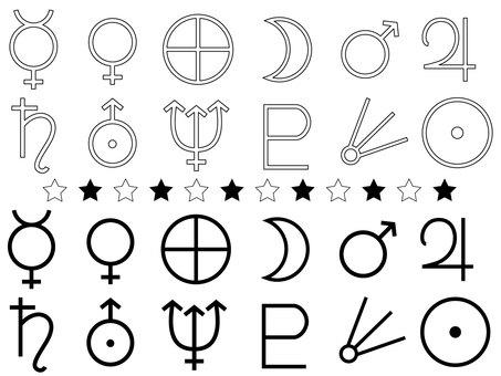 Planet symbols set