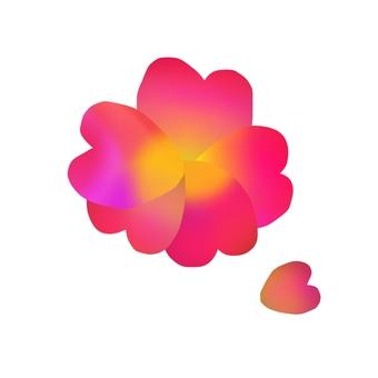 흐림 그림 귀여운 꽃