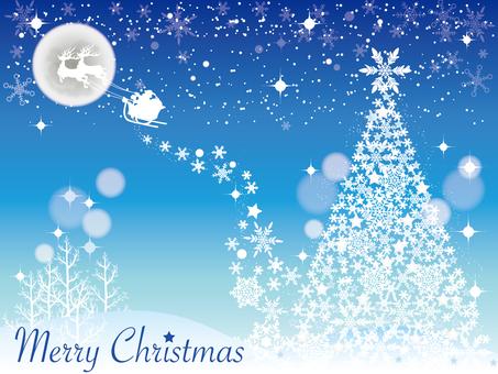ต้นคริสต์มาส Moon และ Santa_Blue 1