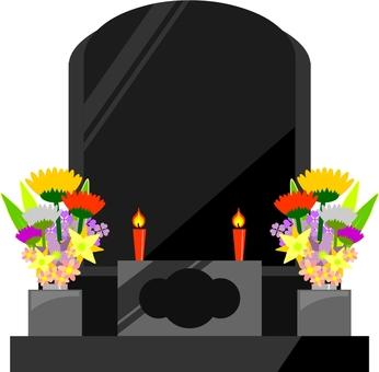 Western type tombstone